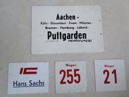 Deutsche Bundesbahn, Wagenschild, Zuglaufschild, Metall 1970er - Coesfeld