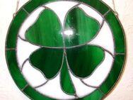 Fensterbild aus Tiffanyglas Kleeblatt (nur auf Bestellung)