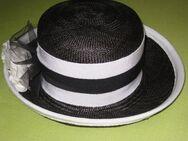 Strohhut mit Krempe, schwarz/weiß, Marke Colección, sehr guter Zustand - Sehnde