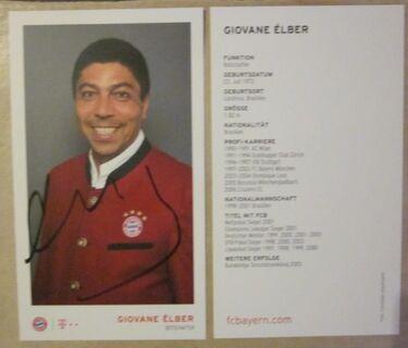 2 Autogrammkarten (Giovane Elber) - München