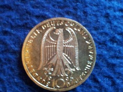 10 DM Münze 50 Jahre Mahnung zu Frieden und Versöhnung 1995 Silbermünze - Plettenberg Zentrum