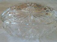 Bonboniere - oval aus Glas, H 6cm, L-B 12-9cm - Zülpich