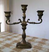 Kerzenständer Kerzenhalter Kandelaber 3-armig Messing ca. 2 kg