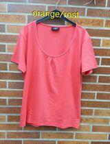 T-Shirt mit kleiner Raffung, dunkelorange/rost, Gr: XXL, neu