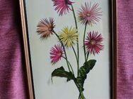 verglastes Wandbild hochkant bunte Blumen - Bad Belzig