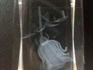 Kristallglas 3D Rose - Lasergravur - Bremen