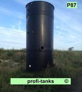 P87 gebrauchter 33.000 Liter Polyethylen-Tank PE-Tank Kunststofftank Chemietank Industrietank Wassertank Rapsöltank Futtermitteltank Gülletank