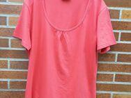 T-Shirt mit kleiner Raffung, dunkelorange/rost, Gr: XXL, neu - Immenhausen