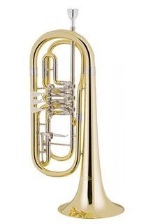 V. F. Cerveny Basstrompete in B, weite Bauform mit Tonausgleich, NEUWARE - Hagenburg
