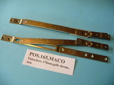 MACO-W.-Verlängerungen mit 1 Schließnocken 600/400,21550,gelb chrom.,neu5 - Ritterhude