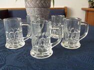 5 Schnapsgläser, dickes Glas und Maße siehe Fotos - Kassel Brasselsberg