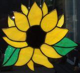 Fensterbild aus Tiffanyglas (Handarbeit) Sonnenblume nur auf Bestellung