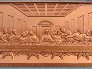 """Metal-Relief Da Vinci """"Das Abendmahl"""" (65,5 x 36,5 cm) - Münster"""