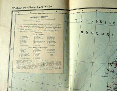 Westermanns Generalkarte Sandinavien und Ostseeländer Nr. 38 von 1940 - Niederfischbach