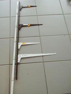 Regalschiene,1000 mm, braun - Ulmen Ulmen