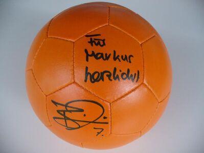 Fussball mit Autogramm von Benjamin Auer (Mainz 05) - Mainz