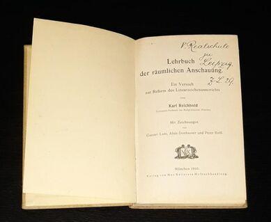 Lehrbuch der räumlichen Anschauung Karl Reichhold Ein Versuch zur Reform des Linearzeichenunterrichts - Nürnberg