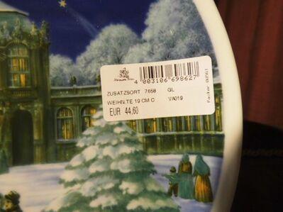Royal Tettau Porzellan Weihnachten 1991 Sammelteller Limitiert Teller Zwinger