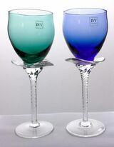 2 IVV-Gläser blau + grün
