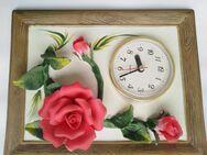 Wanduhr ,Uhr mit 3 Rosen für den Garten - Köln