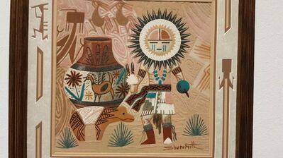 Keith Silversmith Sandgemälde Kachina Geist Schamane Azteken Mexico Navajo Tribal Kunst - Nürnberg
