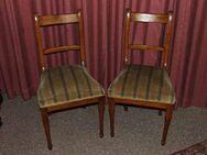Zwei gepolsterte Biedermeier Stühle / Holzstühle mit Samtpolsterung - Zeuthen