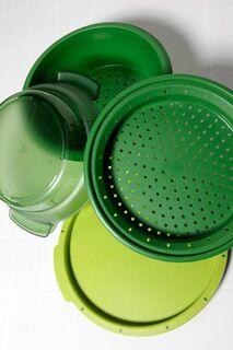 Tupperware MicroGourmet Dampfgarer Grün
