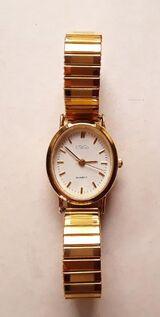 Goldene USiGo Damenuhr dehnbaren Armband