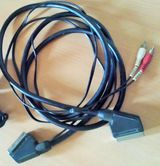 1 x Scart Stecker + 2 x Cinch Kabel