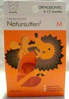 Natursutten Butterfly, Orthodontic, Schnuller, Gr. M, 6-12  Monate - Niederfischbach