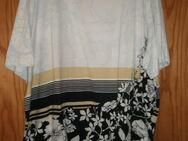 Damen T-Shirt mit großen Ausschnitt (Gr.52/54) Bunt mit Blumen - Weichs