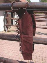 Long-chaps braun für Kinder Westernchaps Reithose Fullchaps Kids