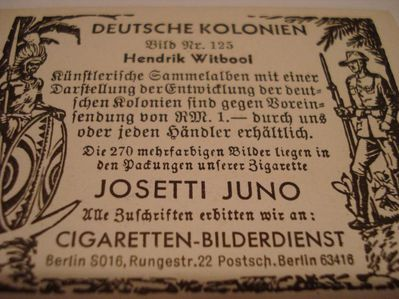 Original Eckstein Nr.5 Sammelbilder- Deutsche Kolonien - Erfurt