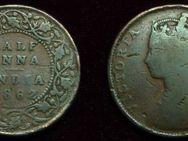East India Company / Indien 1/2 Anna 1862,Lot296