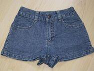 Kurze Mädchen Jeans Shorts Kinder Bermuda Hose Hotpants Jeanshose kurz Sommerhose blau Gr. 128 - Sonneberg