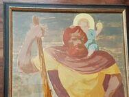 Heiliger Groß Christophorus Jesus Kind Gemälde Altar Kirche Kapelle Haus Kloster - Nürnberg