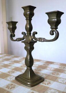 Kerzenständer Kerzenhalter Kandelaber 3-armig Messing ca. 2 kg - Celle