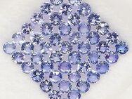 4,61 ct - VVS ,Top Lot Super Tansanite , 2,7 mm , rund Diam. Faced, Purple Blue - Neubrandenburg