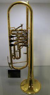 B & S Konzert - Trompete. Goldlack - Einzelanfertigung. mit Tonausgleichs - Trigger, Neuware / OVP