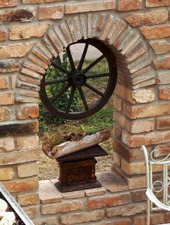 Antik Rundbogen Torbogen Sturz historische Bauelemente Ziegel geschnitten Ruinenmauer Garten - Halle (Saale)