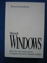 Benutzerhandbuch Microsoft WINDOWS Version 3.1 und Erste Schritte