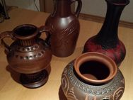 4 x Stück verschiedene Handgearbeitete Vasen in braun /rotschwarz - Verden (Aller) Zentrum