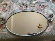 Badezimmer Spiegel verchromt  mit zwei Wandleuchten - Meckenheim