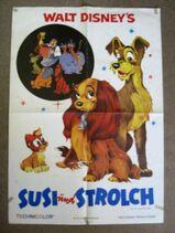 Filmplakat - Susi und Strolch ( Walt Disney )