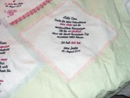 Hochzeits Taschentuch gestickter Text - Stuttgart