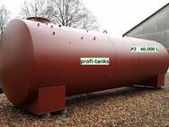 P2 gebrauchter 40.000 L Stahltank doppelwandig gebraucht AHL/ASL DIN6616 D oberirdisch oder als Erdtank