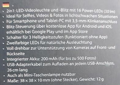 LED Videoleuchte - Friedrichsdorf