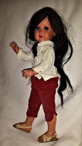 Alte Schilkröt Puppe Nr 46, Schlafaugen, bewegliche Gelenke