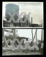 "2 alte Postkarten"" Neunkirchen Saar Gasometer Explosion 1933"""