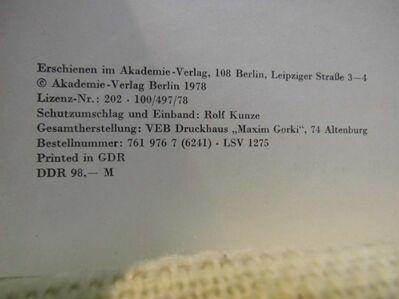 Ergebnisse der Alkaloid - Chemie 1969-1970, Werner Döpke / Band 2 / Buch 1978 - Zeuthen